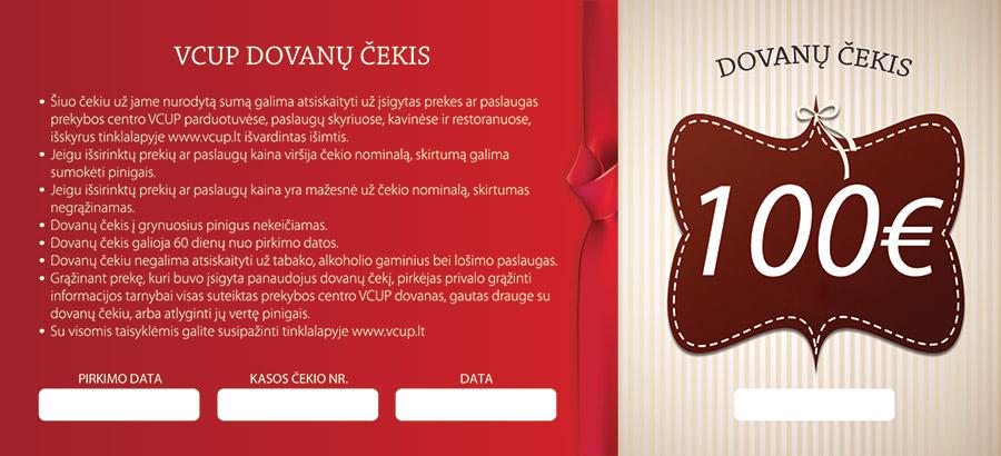 100 eur dovanų čekiai