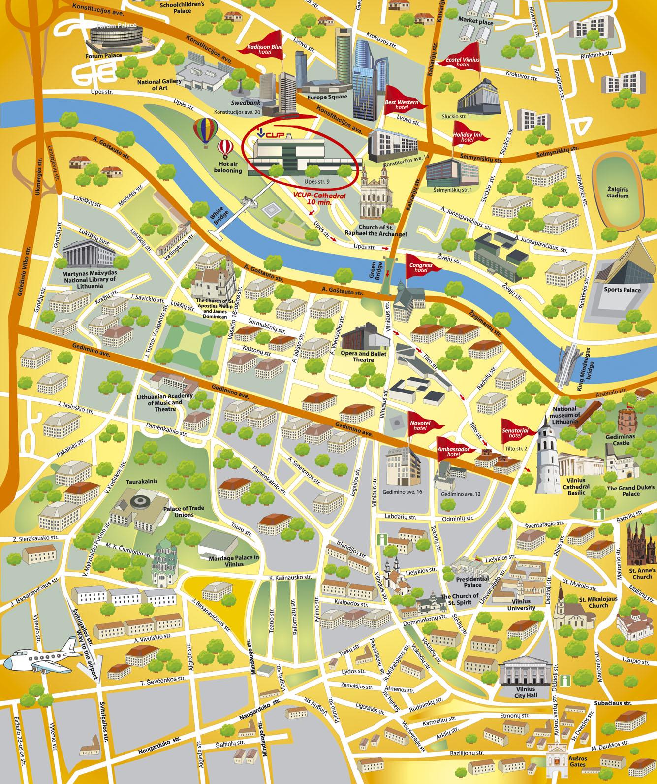 Žemėlapis miesto svečiams