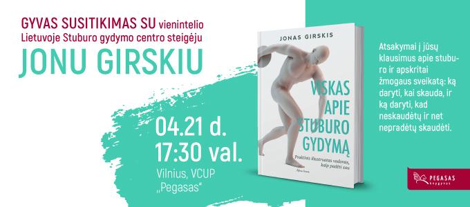 Prekybos centras VCUP_Knygynas Pegasas_susitikimas su Jonu Girskiu