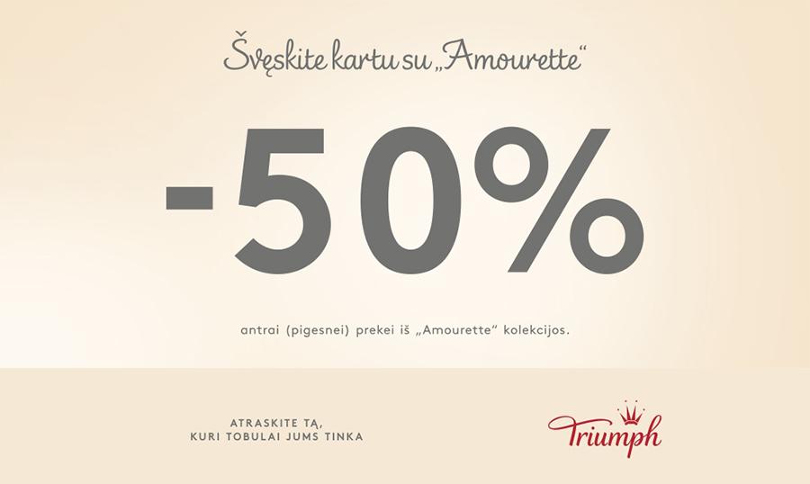 Prekybos centras VCUP_Sveskite su Triumph_antrai prekei 50 pr_nuolaida_t