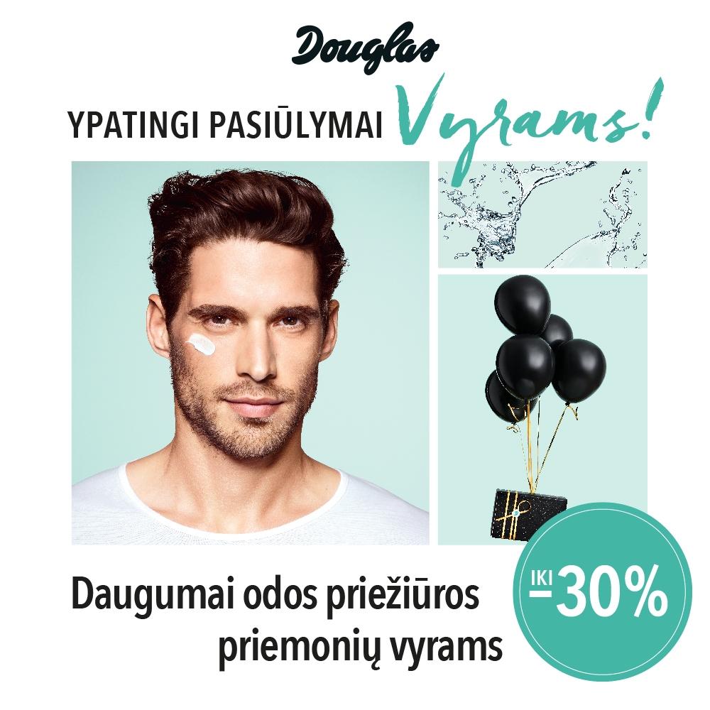 Prekybos centras VCUP_Douglas_Ypatingi pasiulymai vyrams