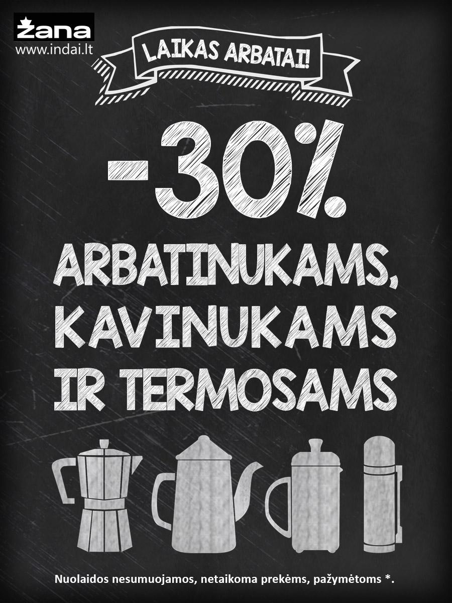 Prekybos centras VCUP_Zana_arbatinukams kavinukams termosams iki 30% nuolaida_t_k
