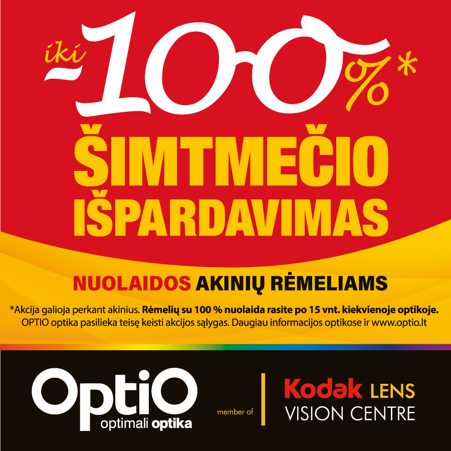 Prekybos centras VCUP_ Šimtmečio išpardavimas OPTIO optikose_t