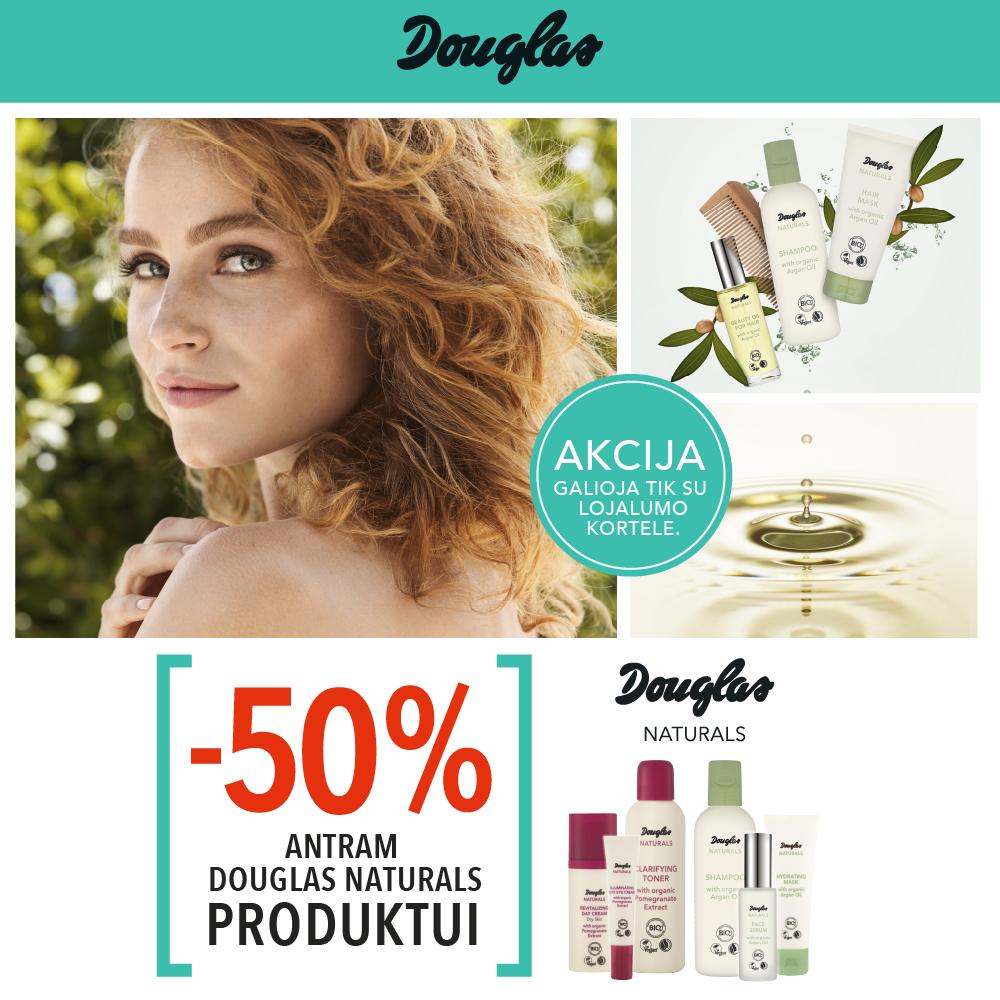 Prekybos centras VCUP_Douglas_Douglas Naturals -50 % 2-am produktui