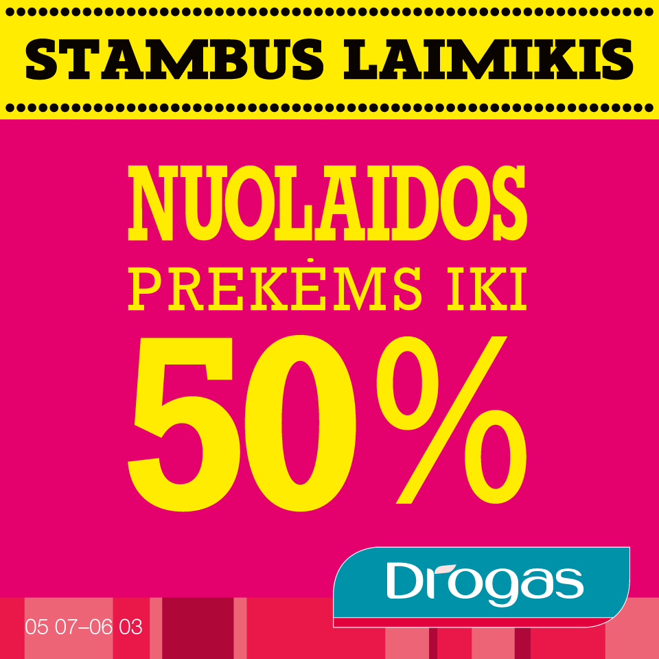 Prekybos centras VCUP_Drogas_BIGSALE_